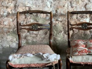 vintage, shabby chic chairs